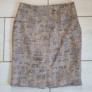 Herve Leger Metallic Tweed Skirt [size 40]